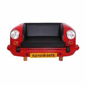 auto -sohva punainen