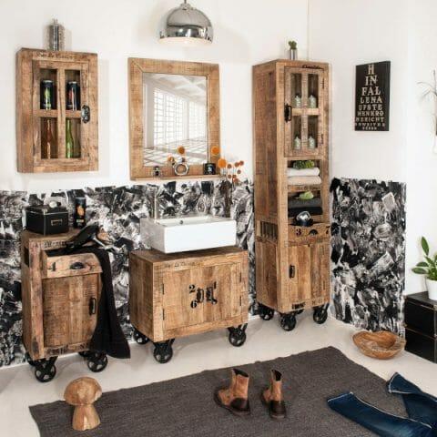 Rustic kylpyhuonekalusteet