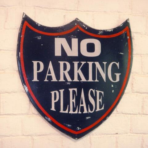 """Sisustustaulu Wall-Art """"No parking please"""""""
