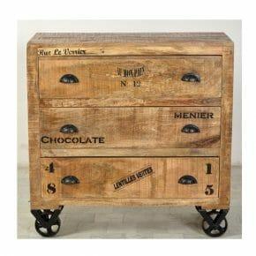 Rustic -sarjan 90 cm leveä laatikosto / lipasto