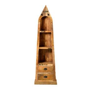 Rustic -sarjan 190 cm korkea 'Bootsregal' hylly
