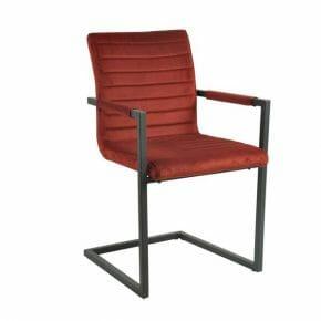 Tuoli käsinojilla punainen 2-setti