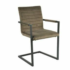 Tuoli käsinojilla, ruskea 2-setti