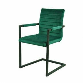 Tuoli käsinojilla, vihreä 2-setti