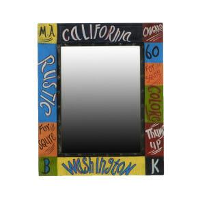 Colore -sarjan metallista valmistettu värikäs peili