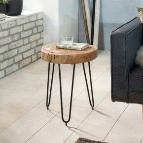 Bagli akaasia apupöytä halkaisija 30 cm