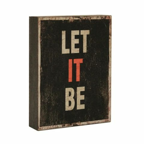 Sisustustaulu Let it be