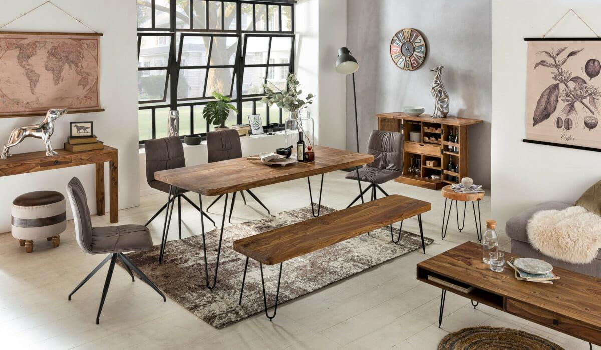Bagli – upeita uniikkeja metallijalkaisia massiivipuupöytiä ja -penkkejä