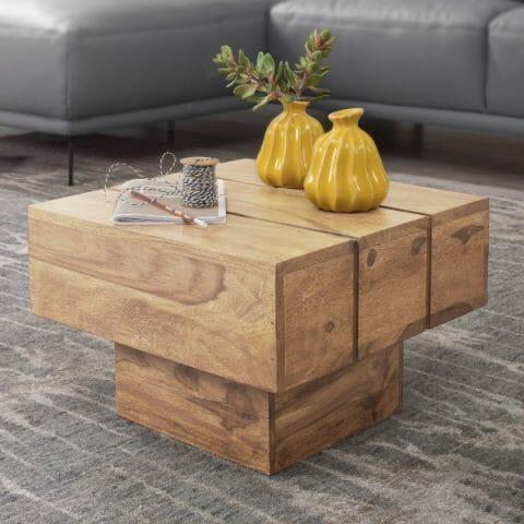 Akaasia sohvapöytä neliö