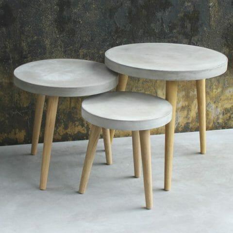 Cement apupöytä / sohvapöytä