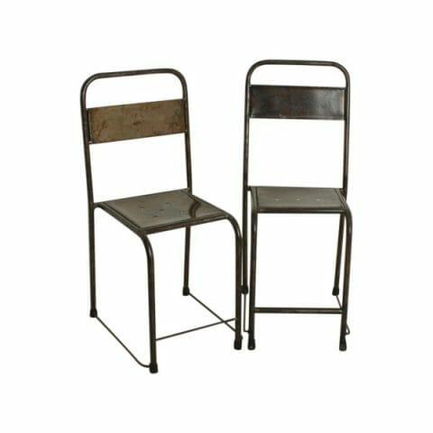 Java tuoli hopea 2-setti