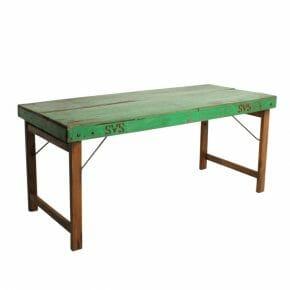 Ruokapöytä taittojaloilla, vihreä