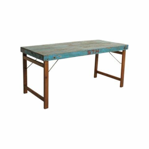 Ruokapöytä taittojaloilla, sininen