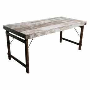 Ruokapöytä taittojaloilla, valkoinen