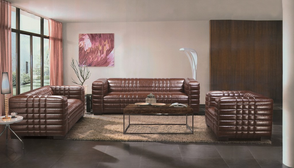 sohva ruskea nahka volcano design. Black Bedroom Furniture Sets. Home Design Ideas